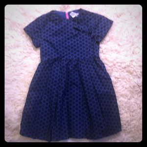Adorable Crewcuts navy blue zippered dress